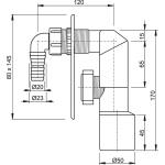 APS3 AlcaPlast Sifon pračkový podomítkový nerez