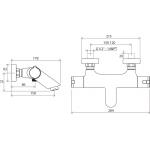 RAVAK TE 022.00/150 Vanová nástěnná baterie termostatická bez setu