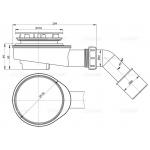 A491CR Odtoková souprava vaničková chrom pr.50mm