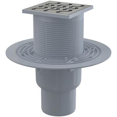 APV202 AlcaPlast Podlahová vpusť přímá mosaz-chrom 105×105/50
