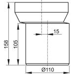 A92 AlcaPlast Připojovací nástavec k WC - nátrubekexcentrický