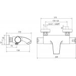 RAVAK TE 082.00/150 Vanová nástěnná baterie termostatická bez setu