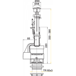 A08 AlcaPlast Vypouštěcí ventil s dvoutlačítkem
