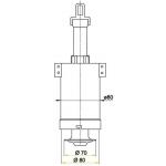 A03A AlcaPlast Vypouštěcí ventil pro vysoko položenou nádrž