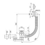 RAVAK Sifon pro sprchovou vaničku Sabina a Sabius 52 mm - chrom