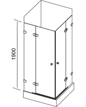 GSRV4-80 MATRIX Sprchový kout čtyřdílný