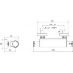 RAVAK TE 072.00/150 Sprchová nástěnná baterie termostatická bez setu