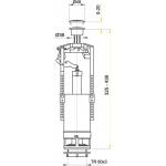 A05 AlcaPlast Vypouštěcí ventil se STOP tačítkem zvýšený