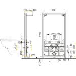 A105/1000 AlcaPlast Montážní rám pro bidet