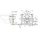 A105/450 AlcaPlast Montážní rám pro bidet