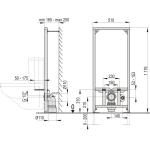 A113/1200 AlcaPlast Montážní rám pro závěsné WC kombi