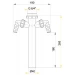 A44M Odbočka k sifonu 6/4˝ s dvěma přípojkami