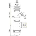 A441P AlcaPlast Sifon dřezový s nerezovou mřížkou pr.70mm apřípojkou