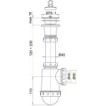 A442 Sifon dřezový s plastovou mřížkou pr.70mm