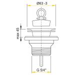 A31 AlcaPlast Umyvadlová výpusť 5/4˝ s nerezovou mřížkou pr.63mm