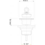 A32 AlcaPlast Umyvadlová výpusť 5/4˝ s plastovou mřížkou pr.63mm
