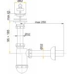 A411 Sifon pro umyvadlo s nerezovou mřížkou pr.63mm