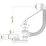 A501 Sifon vanový chrom, náhrada za A50