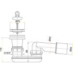 A461/50 AlcaPlast Odtoková souprava se zápachovou uzávěrkou pr.50mm