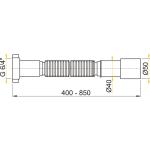 A707 AlcaPlast Flexi připojení 6/4˝×50/40 plast