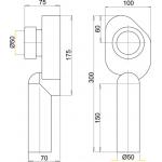 A45C Alcaplast Sifon pisoárový svislý