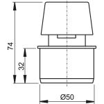 APH50 Přivzdušňovací hlavice  pr.50mm