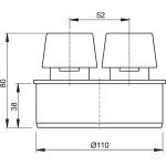 APH110 Přivzdušňovací hlavice  pr.110mm