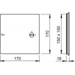 AVD001 Vanová dvířka 150×150 bílá