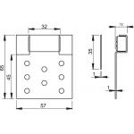 AVD005 AlcaPlast Vanová dvířka magnetická basic podobklady