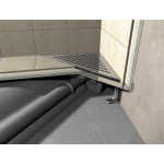 ARZ1 Rohový podlahový žlab ke stěně