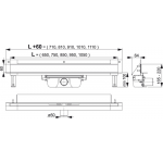 APZ5-EDEN-750 Stěnový žlab s krytem EDEN nerez lesklý