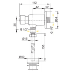 ATS001 Pisoárový tlakový splachovač