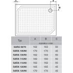 SARA 110×80 HS11080 Gelco Sprchová vanička obdélníková - hladká