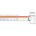 KGRE-kanalizační čistící tvarovka 250 - kruhový uzávěr