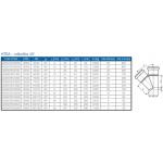 HTEA-kanalizační odbočka110/50/45°
