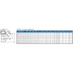 HTED-kanalizační dvojodbočka rohová 110/110/110 - 67°