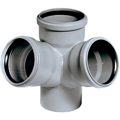 HTED-kanalizační dvojodbočka rohová 110/110/110 - 45°