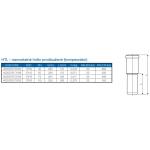 HTL-kanalizační hrdlo prodloužené 110 (kompenzátor)