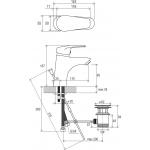 RAVAK NEO NO 011.00 Umyvadlová stojánková baterie s výpustí