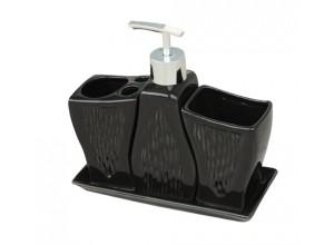 SET - BLACK Arttec Sada koupelnových doplňků