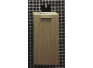 T 580 Bílá lesk Hopa koupelnová skříňka boční
