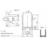 PPV 135  Teiko Prodlužovací profil k vanovým zástěnám Standard