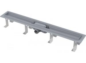 APZ9 AlcaPlast Liniový podlahový žlab plastový s nerez roštem
