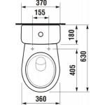 JIKA LYRA PLUS 8.2638.4.000.241.3 WC kombi zadní šikmý - hluboké splach., boční napouštění