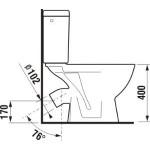 JIKA LYRA PLUS 8.2638.4.000.241.3 WC kombi zadní šikmý - hluboké splach., boční napouštění - Náhledové foto k produktu (3)