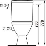 JIKA LYRA PLUS 8.2638.4.000.241.3 WC kombi zadní šikmý - hluboké splach., boční napouštění - Náhledové foto k produktu (4)