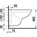 JIKA LYRA PLUS H8233820000001 Závěsný klozet Compact s hlubokým splachováním