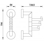 UNIX UN 13099-26 Nimco Háček trojitý otočný