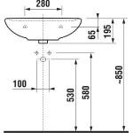 JIKA LYRA PLUS 8.1438.3.000.109.1 Umyvadlo 60×49 cm bez otvoru