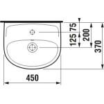 JIKA LYRA PLUS 8.1538.2.000.104.1 Umyvadlo 45×37 cm s otvorem